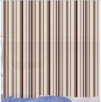 Peva Shower Curtain Linear Stripe Cream
