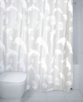 Dolphin Peva Shower Curtain White