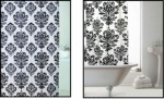 Peva Black Jacquard Shower Curtain
