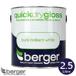 Berger Quick Dry Gloss Brilliant White 2.5 Ltr.