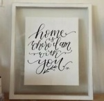 CLEARANCE 12x7 Vintage Quote Glass Frame-Sold as Seen, NO RETURN ACCEPTED