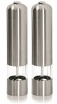 Ashley Housewares Stainless Steel Electric Salt/Pepper Mill
