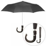 Black J Handle - Mens Black Auto Umbrella