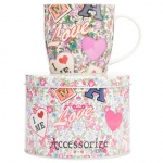 ''Accessorize'' Mug Love In Tin