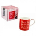 **Discontinued** Awesome Happy Bday China Mug