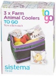 **** Sistema Set of 3 Farm Animal Coolers