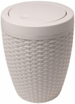 Addis Rattan Bath Bin (Round) - Calico