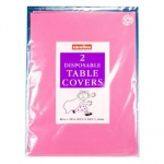 Caroline Paper Table Cover Hot Pink 2Pk (1330)
