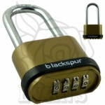 Blackspur 4 Digit Long Shackle Combination Padlock
