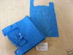 BR2 Clearly Greener Large Blue Recycled Vest Carriers (11x17x21'')-(280x410x505mm) 100pcs.