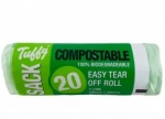 TUFFY 7 LITRE COMPOSTABLE LINERS ROLL 20 390mmx390mm