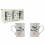 **Discontinued** Happy Anniversary Mugs Set 2
