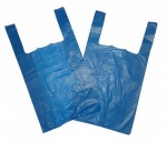BR5 Clearly Greener Jumbo Blue Recycled Vest Carriers (12x19x23'')-(300x440x570mm) 100pcs.