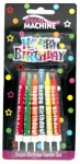 12 Designer Birthday Candles - Asstd.
