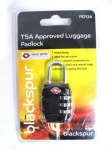 Blackspur TSA Approved Luggage Padlock - Black