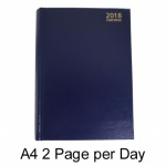 A4 2 Pages a Day Appointment Diary Hardback-
