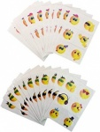Tattoos Mini 4cm Smile 6pcs/Card - Asstd.