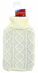 Ashley Housewares Hot Water Bottle with Cable Knit Cover