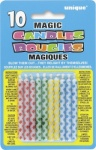 10 Diamnd Dot Magic Bday Candl