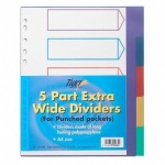 A4 Extra Wide 5 Part Punched Pockets Dividers