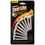 10 Fast Lite Birthday Candles Asstd.