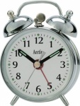 Acctim 'Mini Double Bell' Keywound Alarm Clock In Silver (25/457S)