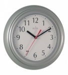'Wycombe' Silver Plastic Wall Clock (21417)