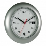 Acctim Date Minder Day/Date Silver Wall Clock (93/702S)