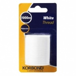 Korbond Polyester White Thread Extra Strong 1000m