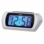 Acctim 'Auric' LCD Alarm Clock In Silver (12340)