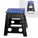 Folding Stool - Black Leg Blue Top H-39xL29xW22cm