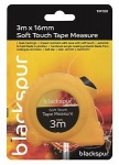 ***Blackspur 3M x 16mm Soft Touch Tape Measure