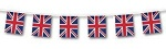 Bunting Union Jack 12ft with 11 Flags PVC