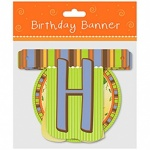 Happy Birthday Banner Jungle Design