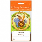 10 Invitation Cards Jungle Design