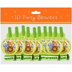 10 Party Blowers Jungle Design