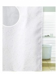 Blue Canyon Diamante Spiral Polyester Shower Curtain - White (SC501WH)