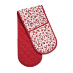 Red Daisy Double Oven Glove 100% Cotton