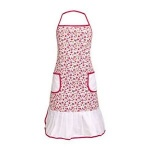 Red Daisy Apron 100% Cotton