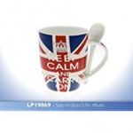 **Discontinued** Keep Calm Union Jack Mug with Spoon