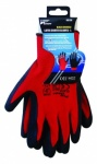 Blackspur Black Crinkle Latx Coated Gloves - L