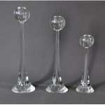 Claus Glass Candlestick 16.4cm - Silver
