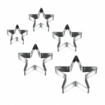 Set 5 Stainless Steel Star Cookie Cutters