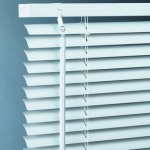 PVC Venetian Blind, Std Drop, White-165cm