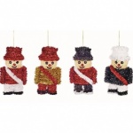 15cm 4 Asst Tinsel Soldier Trim in CDU