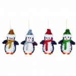 16cm 4 Asst Tinsel Penguin Trim in CDU
