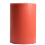 3 Wick Pillar Candle Red 6x10''