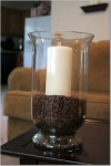 Large Glass Candle + Fruits - Coffee Beans
