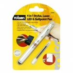 Rolson 4 In 1 Stylus - Laser - LED & Pen 35985
