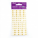 Adhesive Gemstones Gold (104 Pieces)